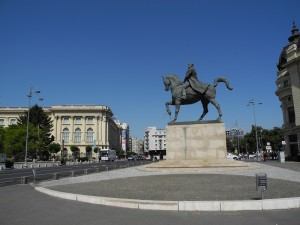 Equestrian statue in Bucharest