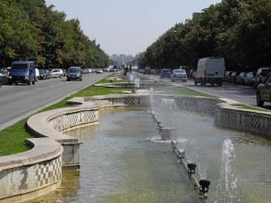 Unirii Boulevard in Bucharest
