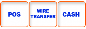 POS; Wire transfer; Cash